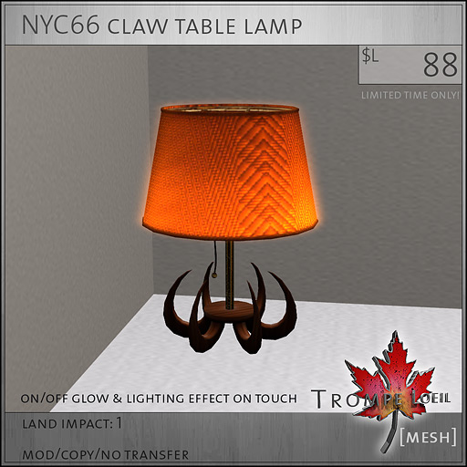 NYC66-claw-table-lamp