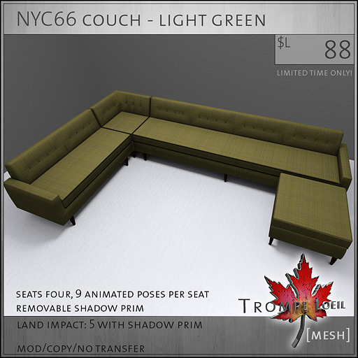 NYC66-couch-light-green-L88