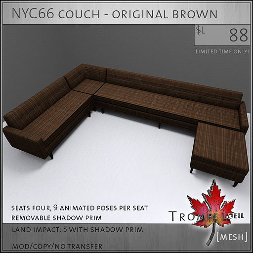 NYC66-couch-original-brown-L88