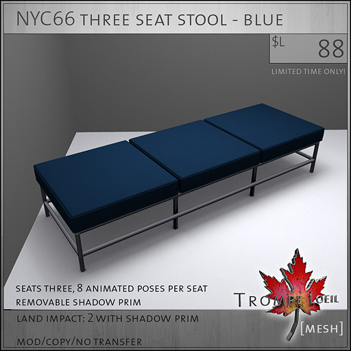 NYC66-three-seat-stool-blue-L88