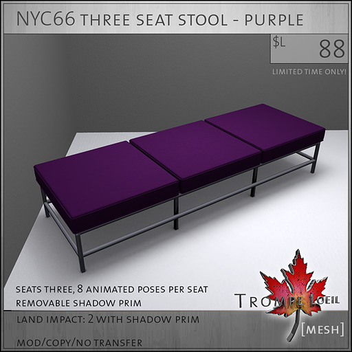 NYC66-three-seat-stool-purple-L88