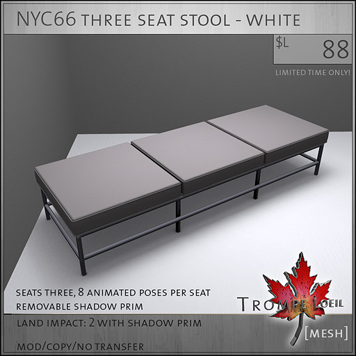 NYC66-three-seat-stool-white-L88