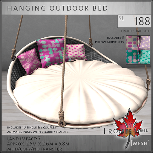 hanging outdoor bed sales L188
