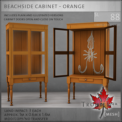 beachside cabinet orange L88