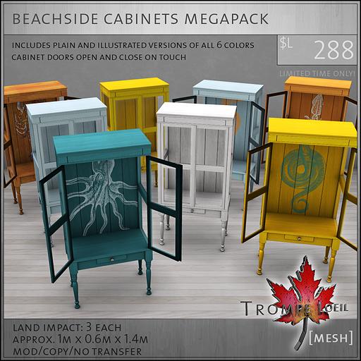 beachside cabinets megapack L288