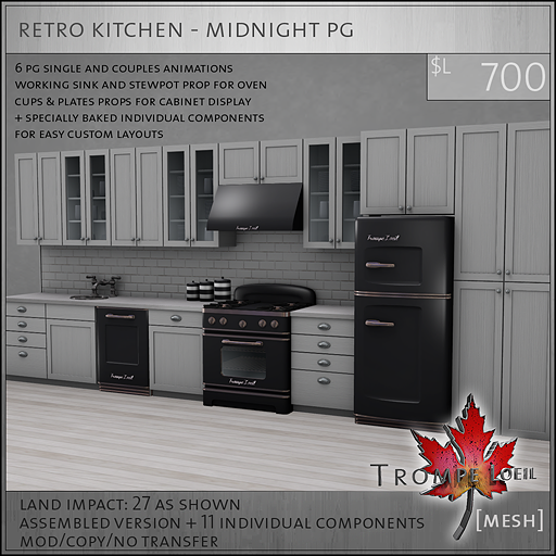 retro kitchen midnight PG L700
