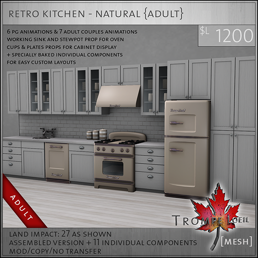 retro kitchen natural A L1200