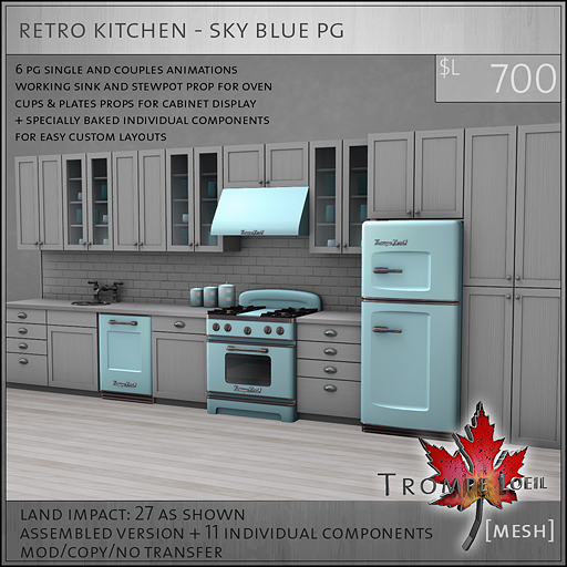 retro kitchen sky blue PG L700