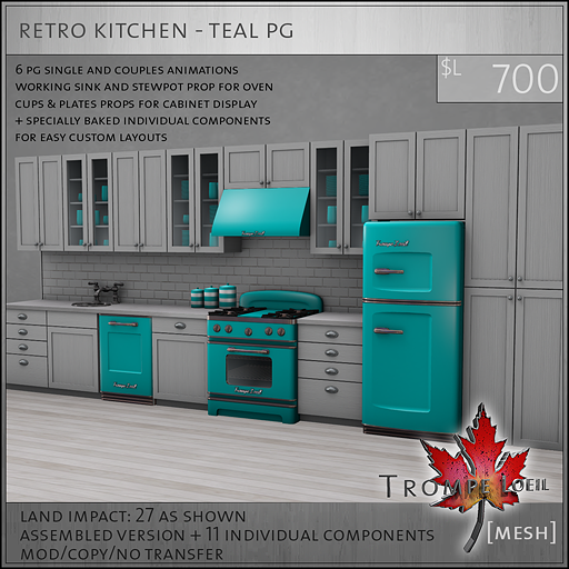 retro kitchen teal PG L700