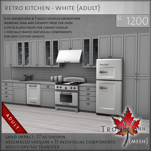 retro kitchen white A L1200
