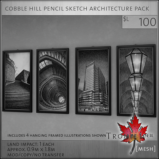 cobble hill pencil sketch architecture pack L100