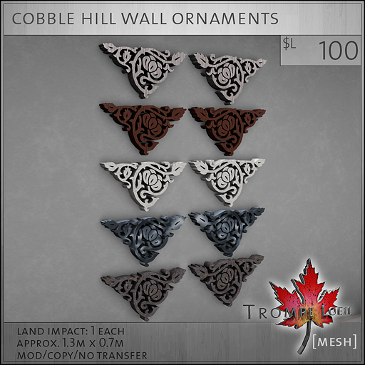 cobble hill wall ornaments L100