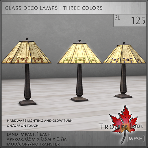 glass deco lamps L125
