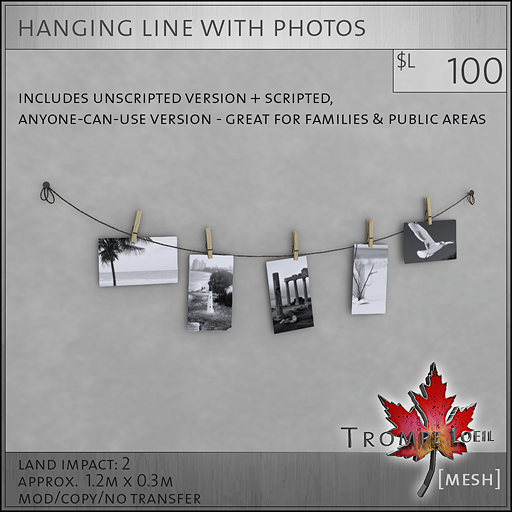 hanging line with photos sales image L100
