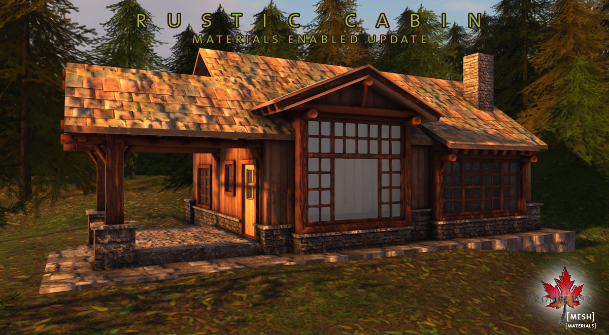 Rustic Cabin Free Update Now With Materials Trompe Loeil