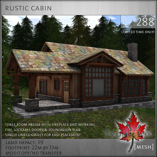 rustic cabin sales image L288