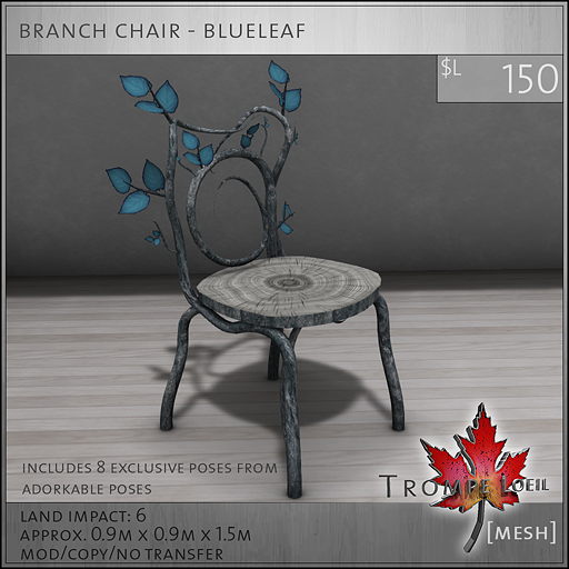 branch chair blueleaf L150