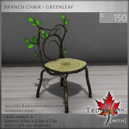 branch chair greenleaf L150