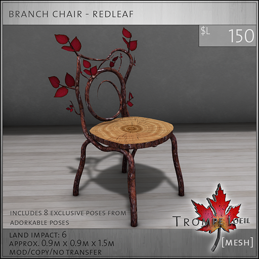 branch chair redleaf L150