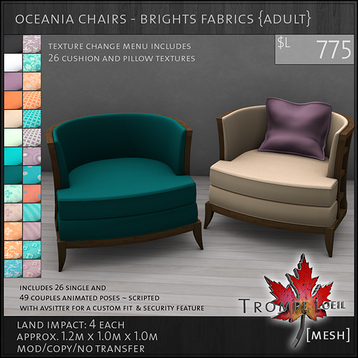 oceania chairs brights Adult L775