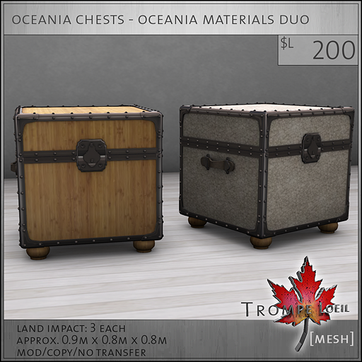 oceania chests oceania materials L200