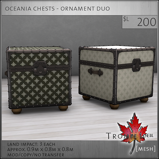 oceania chests ornament L200