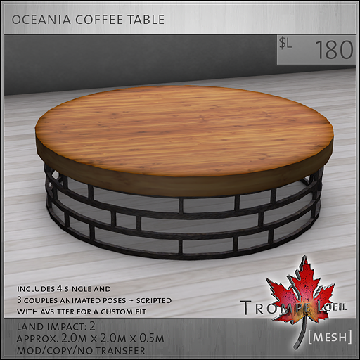 oceania coffee table L180
