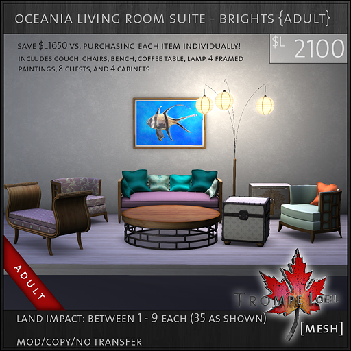 oceania living room suite brights Adult L2100