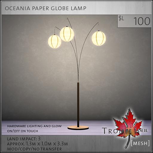 oceania paper globe lamp L100