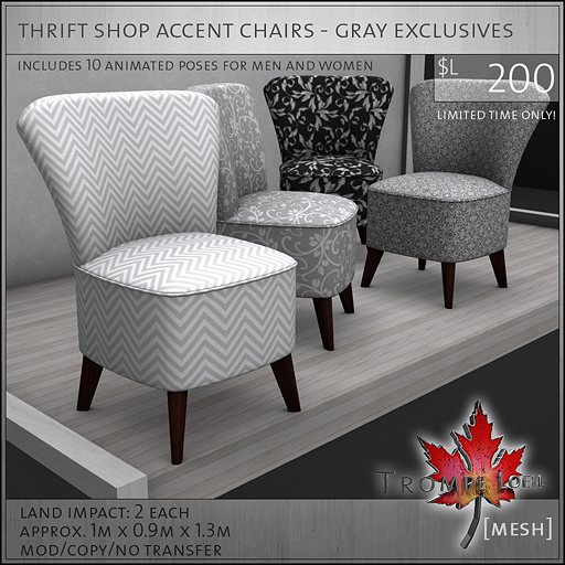 thrift shop accent chairs gray exclusives L200