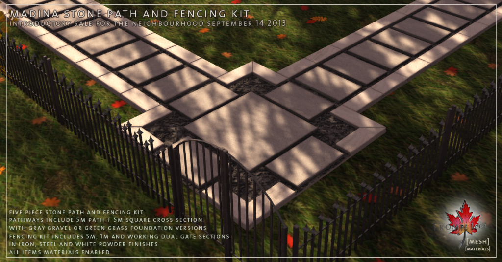 Madina Stone Path and Fencing Kit promo 01