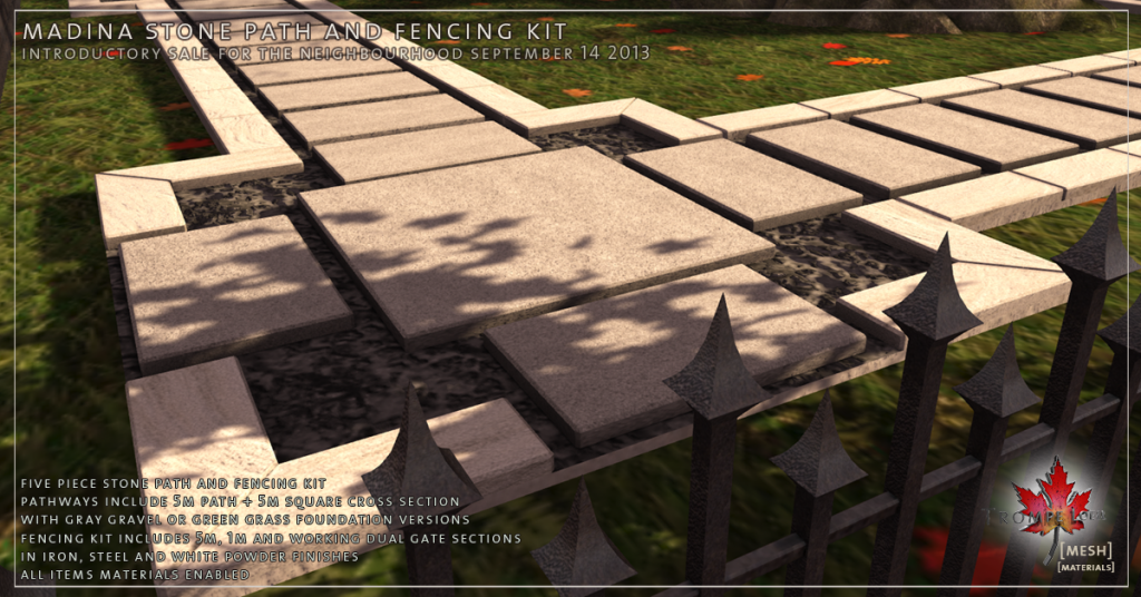 Madina Stone Path and Fencing Kit promo 02