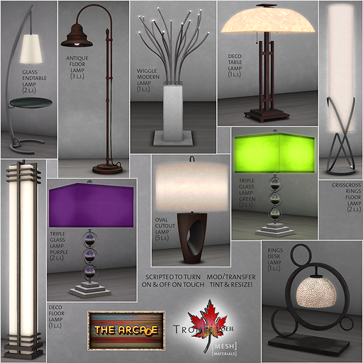 Trompe Loeil Lamps Gatcha Part 2 promo - The Arcade smaller