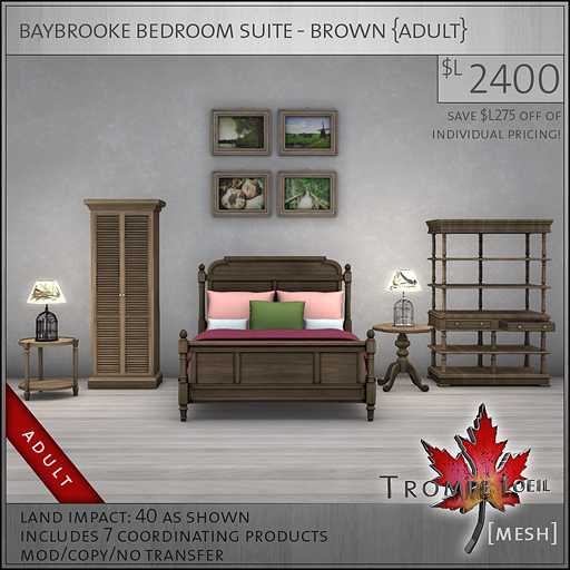 baybrooke bedroom suite brown Adult L2400