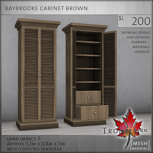 baybrooke cabinet brown L200
