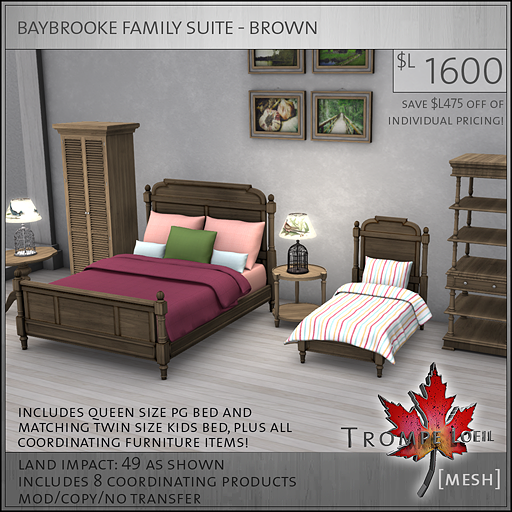 baybrooke family suite brown L1600