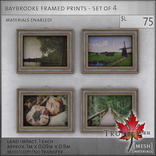 baybrooke framed prints L75