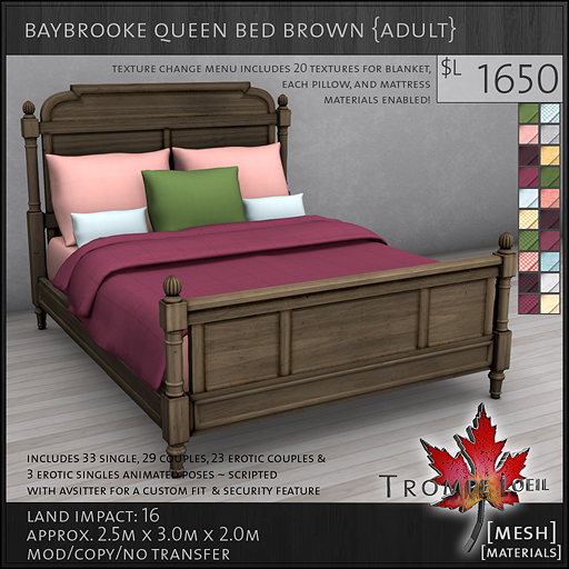 baybrooke queen bed brown adult L1650