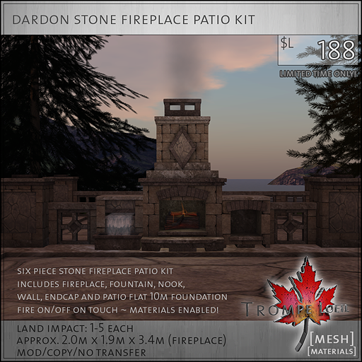 dardon stone fireplace patio kit sales L188