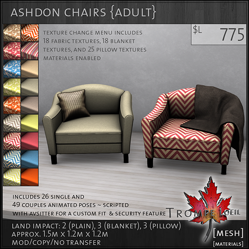 ashdon chairs Adult L775