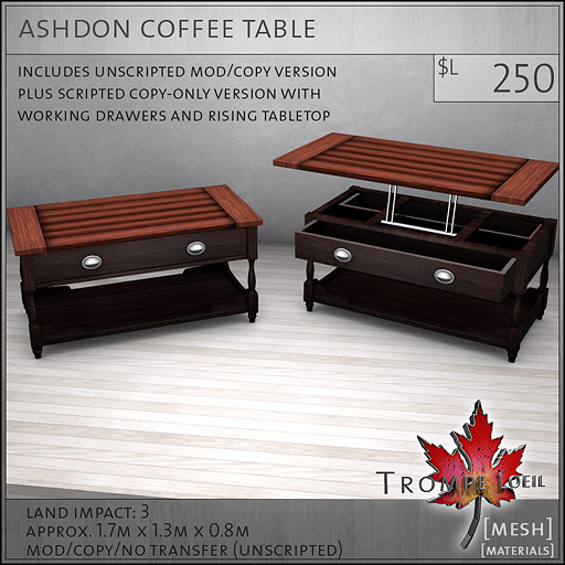ashdon coffee table L250