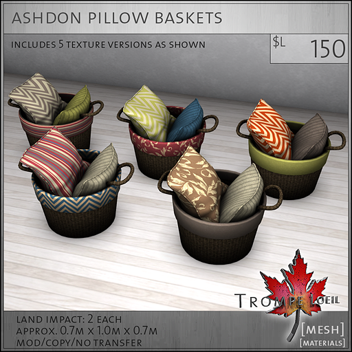 ashdon pillow baskets L150
