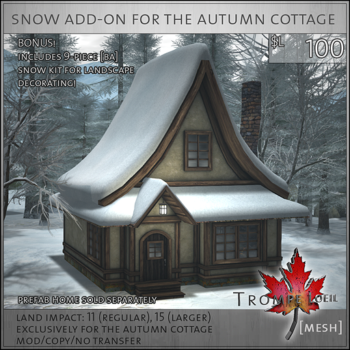 Snow Add-On for The Autumn Cottage L100