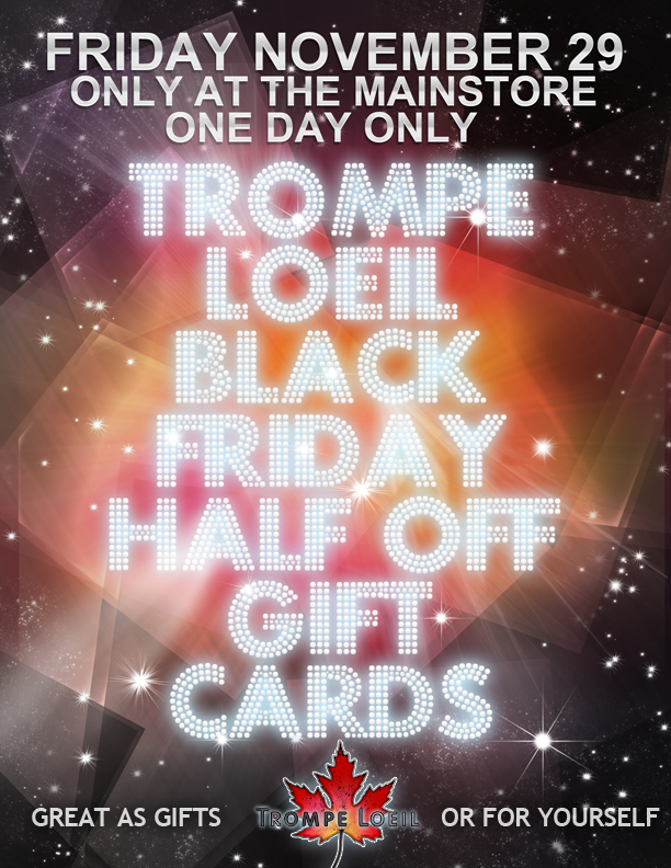 Trompe Loeil - Black Friday Half Off Gift Cards November 29