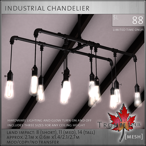 industrial chandelier L88