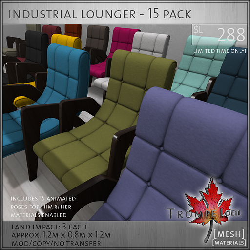 industrial lounger 15 pack L288