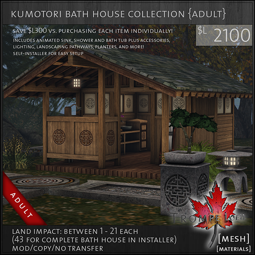 kumotori bath house collection Adult L2100