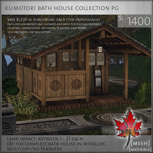 kumotori bath house collection PG L1400