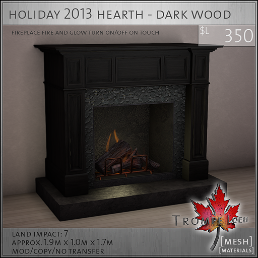 holiday 2013 hearth dark wood L350