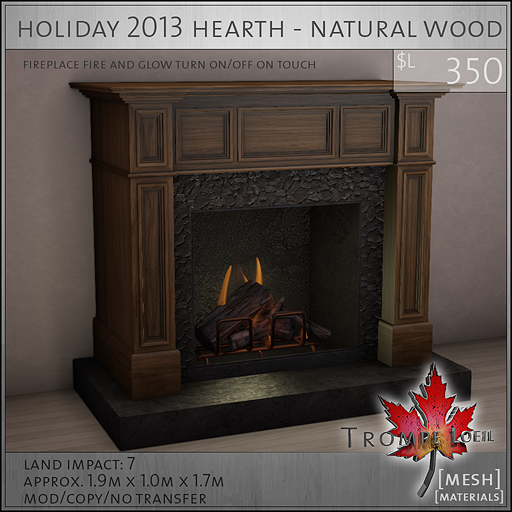holiday 2013 hearth natural wood L350